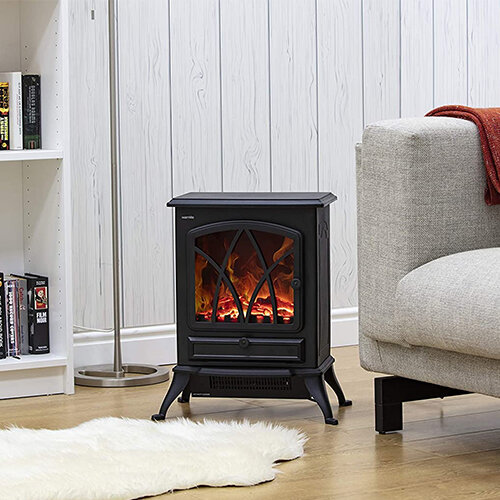 Warmlite Stirling 2 KW Compact Electric Freestanding Stove Fire in room setting