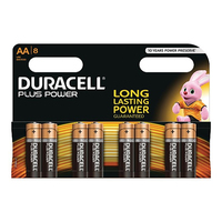 Duracell AA 8 Pack Plus Power