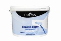 Crown Ceiling White Paint 9 Litre