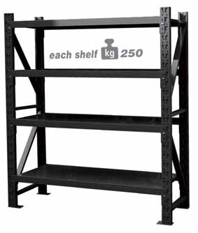 FALCOM TJA61244F SHELF ADD ON SHELF UINT 4 SHELF 1 UPRIGHT 250KG PER SHELF (2m high x 2m wide)