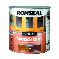 RONSEAL 10 YEAR QUICK DRYING WOODSTAIN SATIN OAK 750 ML