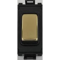 Schneider Ultimate Grid retractive switch mirror steel with Black surround|LV0701.1052