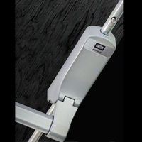 EXISAFE PANIC BOLT FOR TIMBER DOORS SILVER