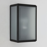 HOMEFIELD FROSTED MATT BLACK WALL LIGHT IP44 | LV1702.0150