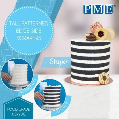 PME Tall Patterned Edge Side Scraper - Stripes