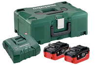 Metabo Battery Set 2 x 7.0AH Li-HD+Charger+Metaloc