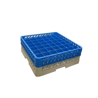 Glass Rack 49 Compartment with 2 Blue Extenders