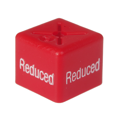 SHOPWORX CUBEX 'Reduced' Size cubes - Red (Pack 50)