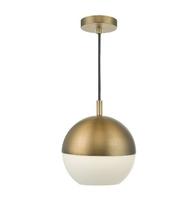 Andre 1 Light Pendant, Aged Brass | LV1802.0050