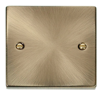 Click Deco Victorian Antique Brass 1 Gang Blank Plate | LV0101.0022