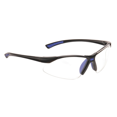 Portwest Bold Pro Blue Safety Glasses with Cord