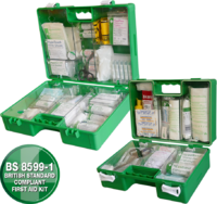 Industrial High-Risk First Aid Kit - Green Case