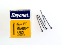 Bayonet Zinc Plated Masonry Nails (36) 30mm 36 Nails - 12206