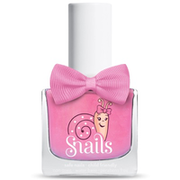 Bright pink kids-safe nail polish that washes off with soap and water.