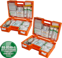 Industrial High-Risk First Aid Kit - Orange Case
