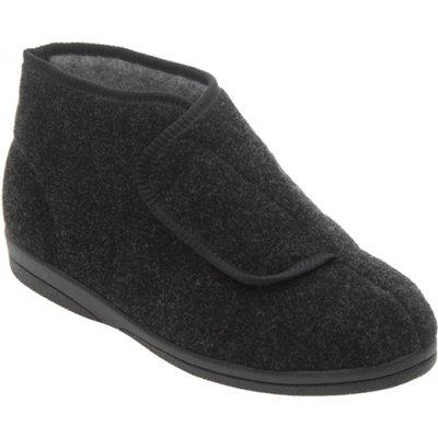 Cosyfeet Charcoal Boot Slipper (Robert)