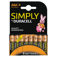 Duracell Simply AAA 8pk