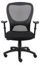 Teknik 1095 Nova Mesh Back Black Fabric Chair