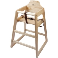 High Chair Natural Unassembled