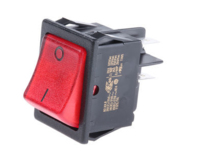 ROCKER SWITCH DP 16AMP RED NEON 20 A AT 250 V AC