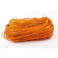RAFFIA ORANGE HANK 1.4mtr