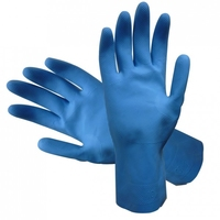 RUBBER GLOVES BLUE Lge