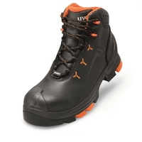 Uvex 2 Leather Boot S3 SRC, Black/Orange