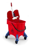 JUMPY BUCKET & WRINGER RED 30ltr