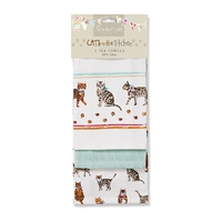 Cats 3 Pack Tea Towel