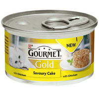 Gourmet Gold Cat Can Savoury Chicken Cake 85g x 12