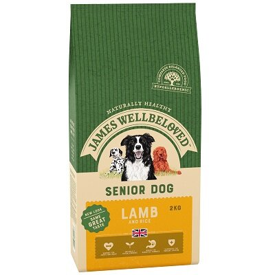 James Wellbeloved Lamb & Rice Senior Dog Food 2kg