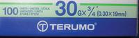 NEEDLES - TERUMO  LONG BOX - 22MM 30G