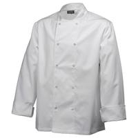 Basic Stud Jacket White Long Sleeve - Small 91-96.5cm