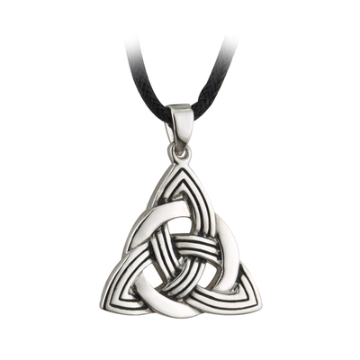 ANTIGUED TRINITY KNOT PENDANT