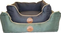 Country Pet Waterproof Box Bed Navy - Large x 1