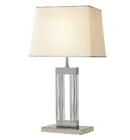 Domain Table Lamp, Quartz Glass Complete with Shade | LV1802.0124