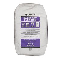 EVO-STIK RAPID SET FLEXIBLE WHITE TILE ADHESIVE PURPLE BAG 20KG