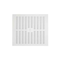 White Plastic Vent Adjustable 9x9'' (WT1802)