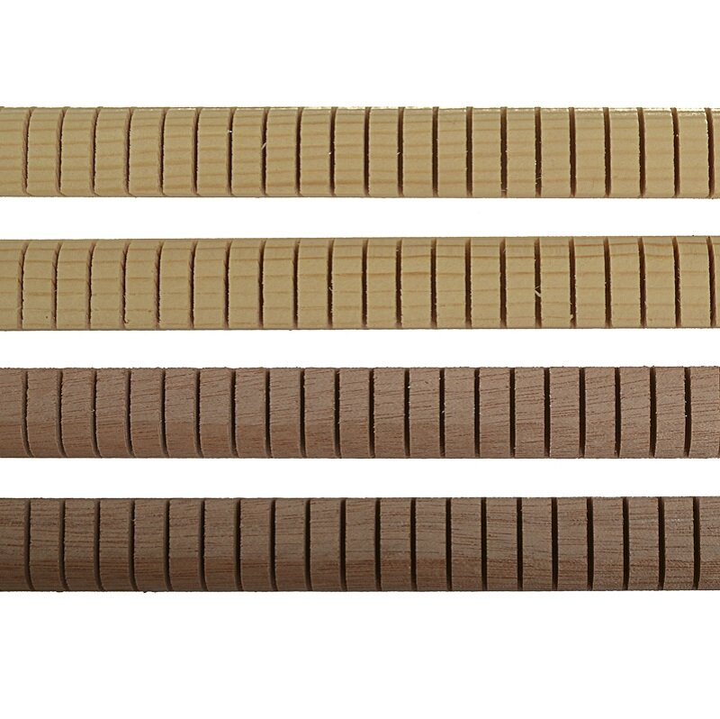 Guitar kerfing, rounded slotted set of 4