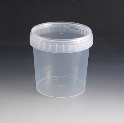 1200ml Plastic Tub & Lid.