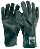 Green Shield PVC Double Dipped 27cm Gauntlet Sandy Finish Gloves Carton 120