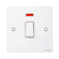 Flatplate 1g 32A DP plate swi + neon White | LV0701.0279