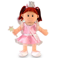 Tooth Fairy Hand Puppet - she has a wand, a crown, and a little purse for collecting teeth/storing coins
