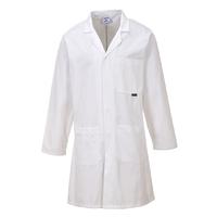 Portwest Cotton Coat White