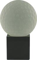 9cm Crystal Award with Golf Ball | TC30