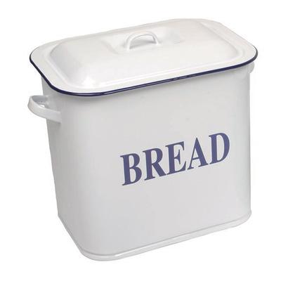 Falcon White Enamel Bread Bin 34cm Oblong