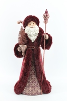Santa with Luxurious Coat with Fur Trimmings