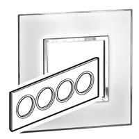 Arteor (British Standard) Plate 8 Module Round Mirror White | LV0501.0177