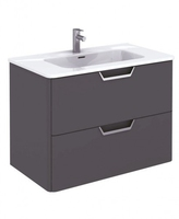 SONAS LYON 80CM WALL HUNG VANITY UNIT GLOSS GREY W800MM X D460MM