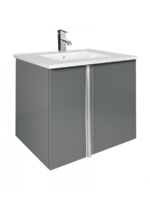 Sonas Avila Gloss Grey  60Cm Vanity Unit And Toledo Basin With Loftus Basin Mixer  - *Special Offer